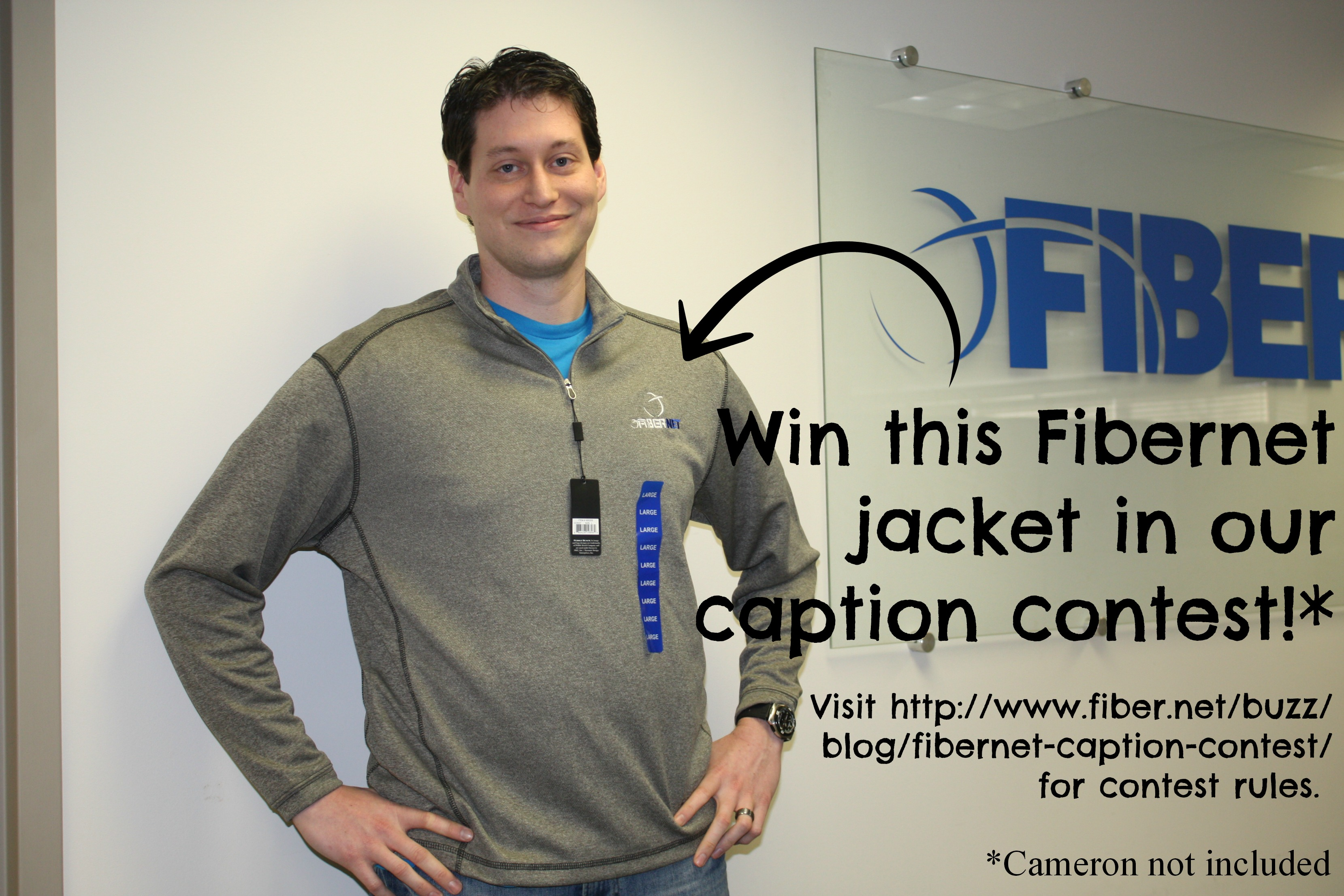 We're giving away this Fibernet jacket to whoever wins our caption contest!