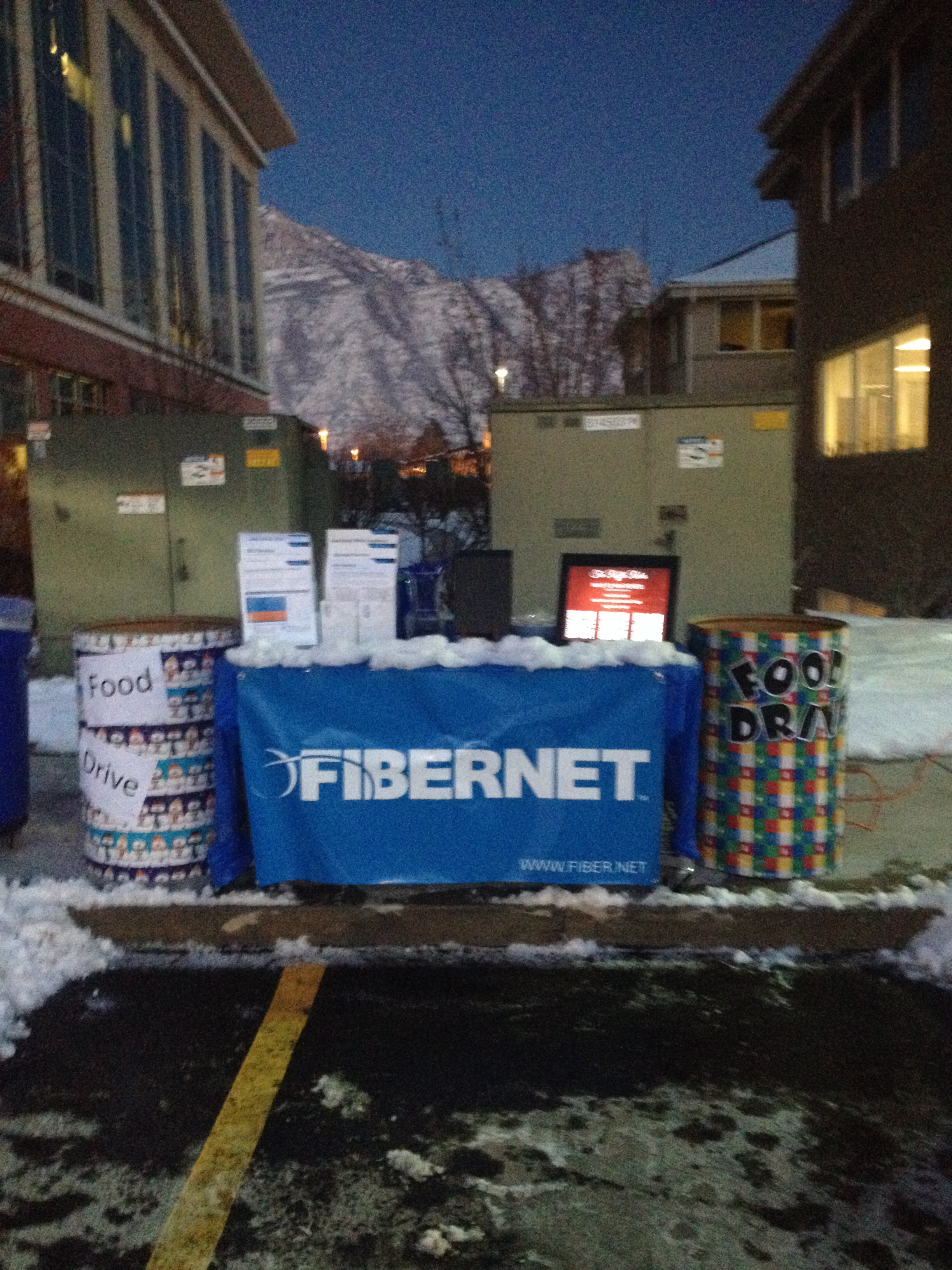 Our booth at our Holiday Lights Show in Orem!